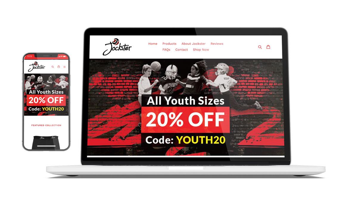 getjockster.com - A responsive eCommerce / Showcase website