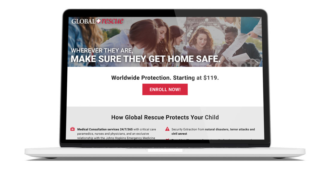 Global Rescue Landing Page -
