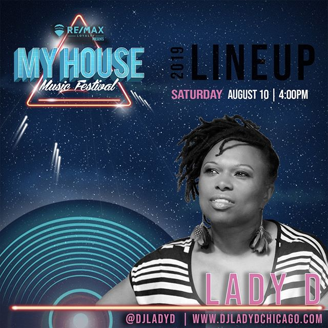 She has been featured alongside Chaka Khan and has performed at SXSW, Lollapalooza and more. We're very excited to have trailblazer @djladyd on this year's lineup!🤩  #queen #housemusic #chicago #deejay #MHMF