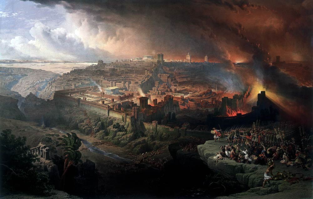 The Siege and Destruction of Jerusalem by the Romans Under the Command of Titus, A.D. 70  by David Roberts