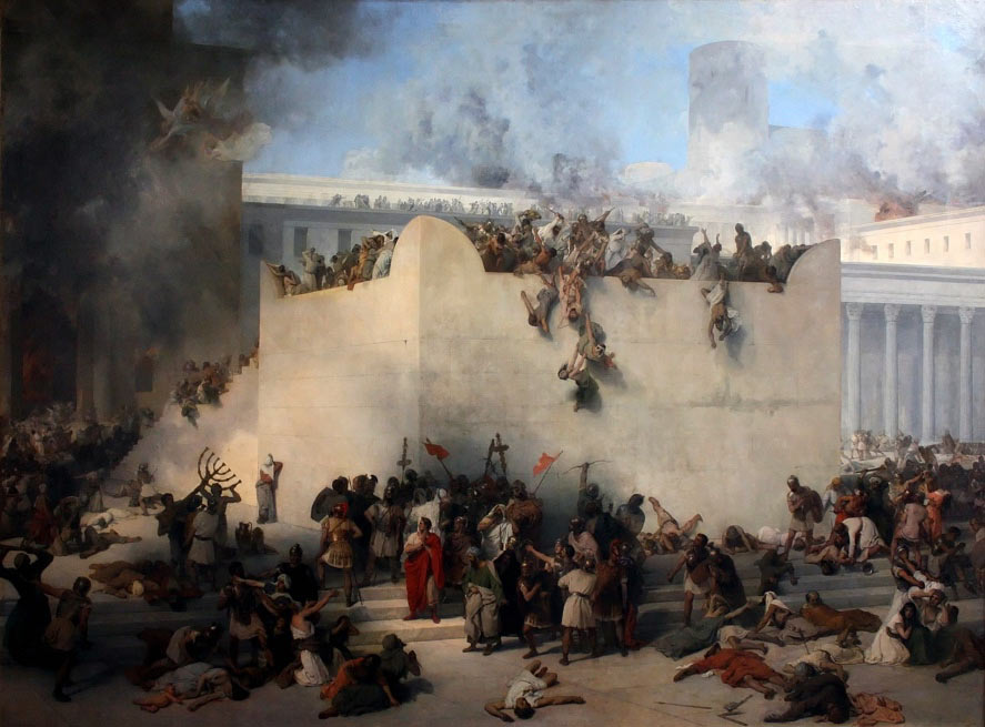 The destruction of the Temple of Jerusalem  by Francesco Hayez