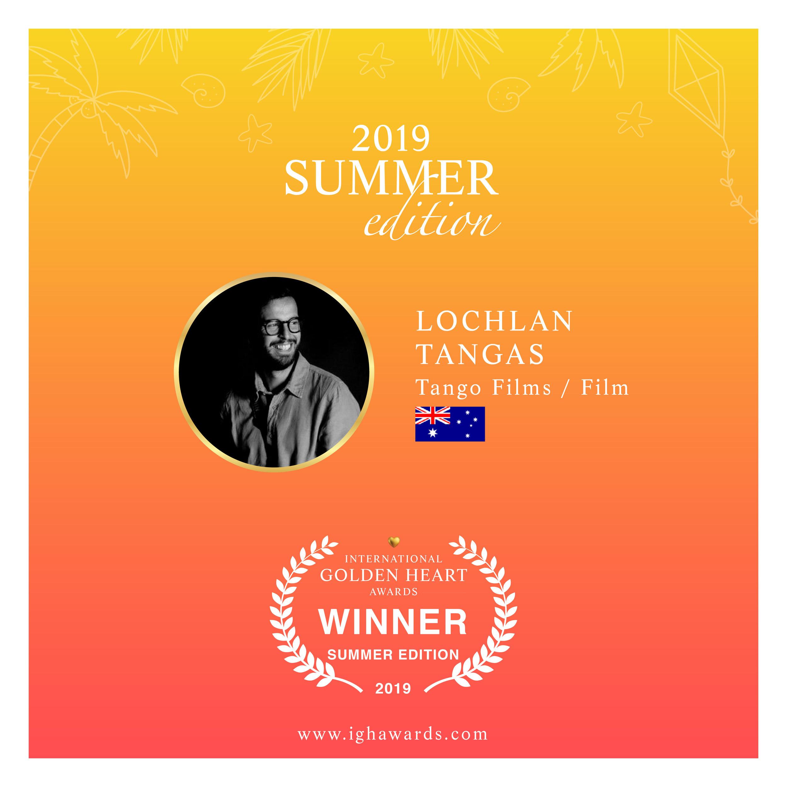 Winner of the 2019 Summer Edition, Golden Heart Award.