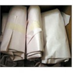 """PLAIN NEWSPRINT:  Crumbled newsprint is used to cushion the bottom of cartons as well as a """"filler"""" between items to prevent shifting during transit. Fragile items should be wrapped in newsprint before packing in cartons."""