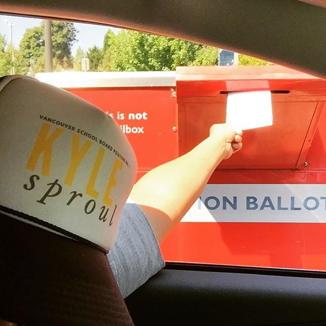 It's the last day to drop your ballots in the bright red box. You've got until 8p! Make your vote count! We made ours count by voting on time and voting for Kyle. Our vote is one for greater achievement, accountability, and action. 👊  #onboardwithkyle #votevotevote #makeyourvotecount #8oclockdeadline #vancouverusa #clarkcounty #rockthevote #dropthatballot