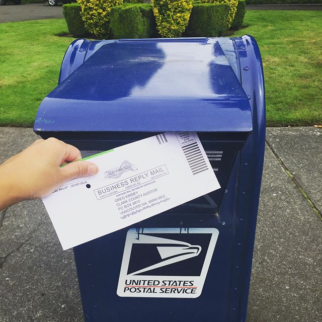 Make your vote count! You can drop your ballot off in the post! Ballots must be received by Tuesday, August 6th, so if you are going this route, today is your last day to vote by post. Check each dropbox for listed pickup times to make sure your ballot gets picked up today! 📬 #onboardwithkyle #votevotevote #makeyourvotecount #vancouverus #usps #castyourballot