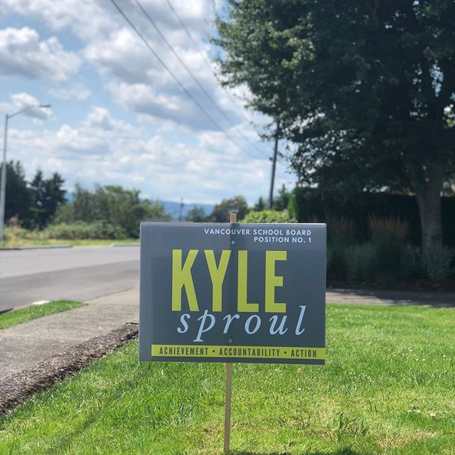 It's a beautiful day for a Rally for Kyle! Come by @rallypizza from 5-9p to hang out with @kylesproulvpsp1, meet friends & neighbors, and eat some incredibly delicious food. We have some great raffle prizes and kids' activities, so bring the entire crew! Check out our Instagram Story to see tonight's menu specials. $4 Escapada pours + Family Pizza Night? WIN!! Need some curb appeal? Pick up a yard sign at Rally! See you tonight!  #onboardwithkyle #rallypizza #pizzaparty #curbappeal #supportlocal #eatlocal #vancouverusa