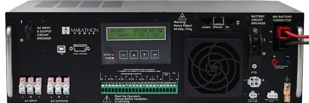 LINE INTERACTIVE - Line Interactive / Automatic Voltage Regulation.High efficiency topology.Adjustable AC threshold parameters.High capacity 10A charger.Backlit LCD Display and LED indicators.