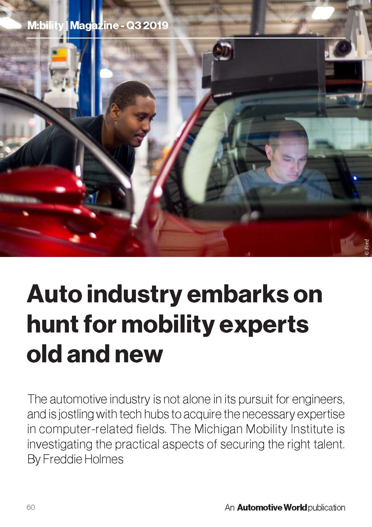 M:bility - Auto industry embarks on hunt for mobility experts old and new