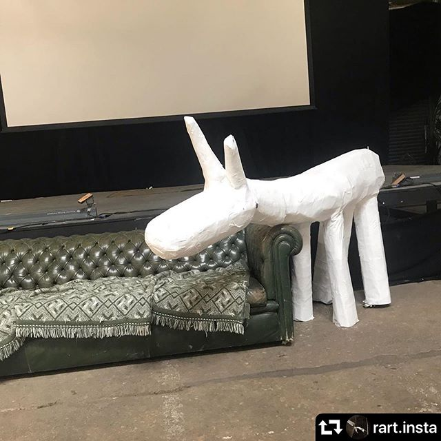 #repost @rart.insta ・・・ Great fun last week helping Neil from @sva__ help paint cardboard sculptures people had made for @festivalplayground - the festival the encourages people of all ages to PLAY! Today the festival has loads of live music and will be showing the den art installation at the goods shed in Stroud follow @festivalplayground for more info. #artstroud #sva