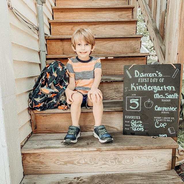 First day of kindergarten for Darren! I wonder who will be more lost without the other, Liam or Darren? #firstdayofschool #firstdayofkindergarten #bestbrothers