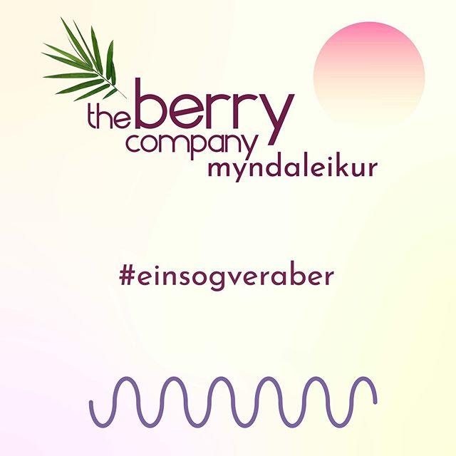 Við drögum úr myndaleiknum okkar á morgun og tilkynnum sigurvegarann sem náði að fanga besta The Berry Company augnablikið 🕺🏻🎉 #einsogveraber #spennandi