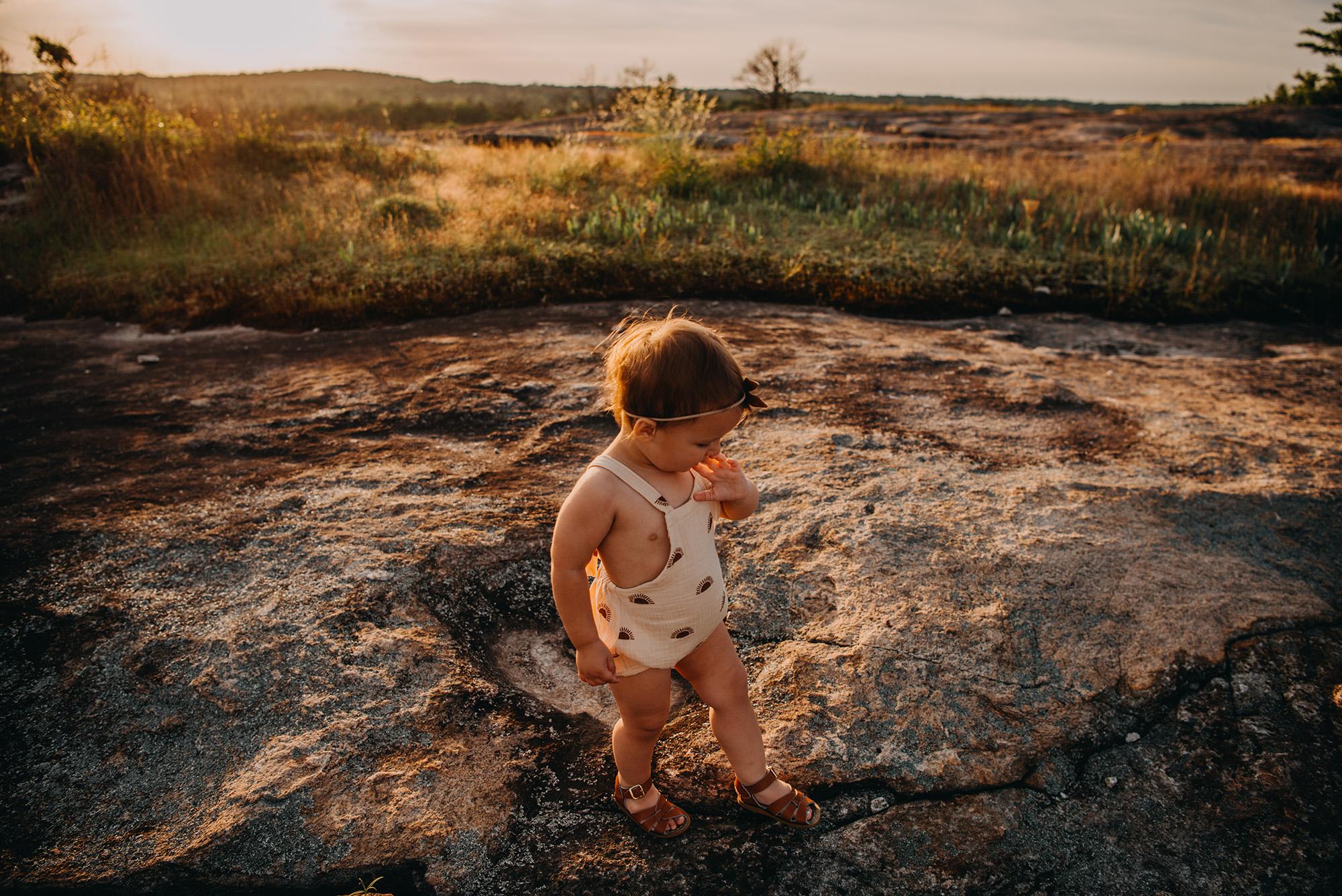 Arabia-mountain-atlanta-family-photographers-baby-girl-golden-hour-sunet