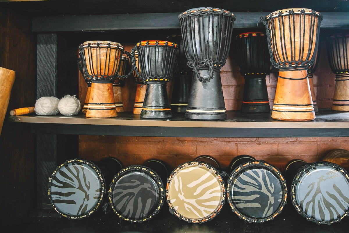 DRUMS : We have a wide selection of drums for sale. To purchase drums and other instruments online, please visit our merchandise website  www.africandrumshop.com  or visit us at the studio.
