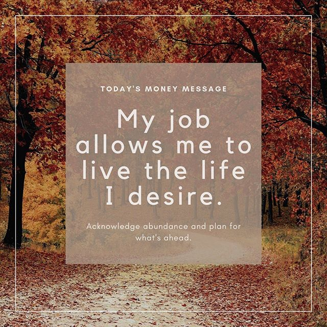 Maybe your career isn't your purpose in life, but it could allow you to live your purpose.⠀ .⠀ .⠀ .⠀ .⠀ .⠀ .⠀ .⠀ .⠀ .⠀ #moneymessages  #investing #investmentmanagement #riskmanagement #financialplanner  #womenswealth #buildwealth #financialplanner #mindfulmoney #saavyinvestor #mindfulness #organizingyourfinances #selfimprovement #affirmations