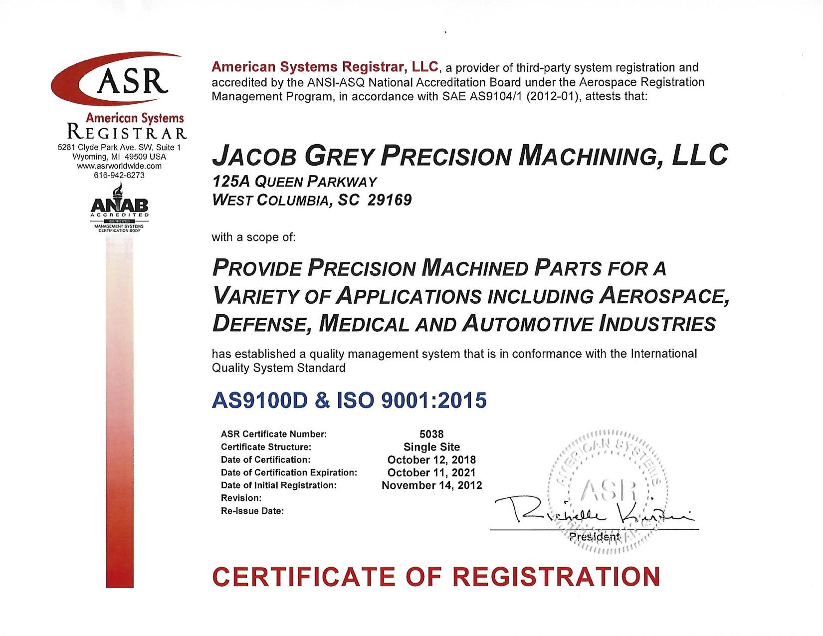 Certificate 2018 AS9100 Rev D .jpg