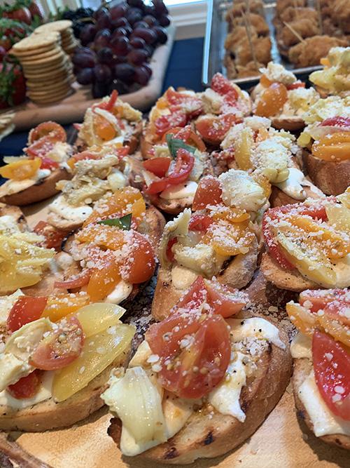 Tomato and Artichoke Toasts