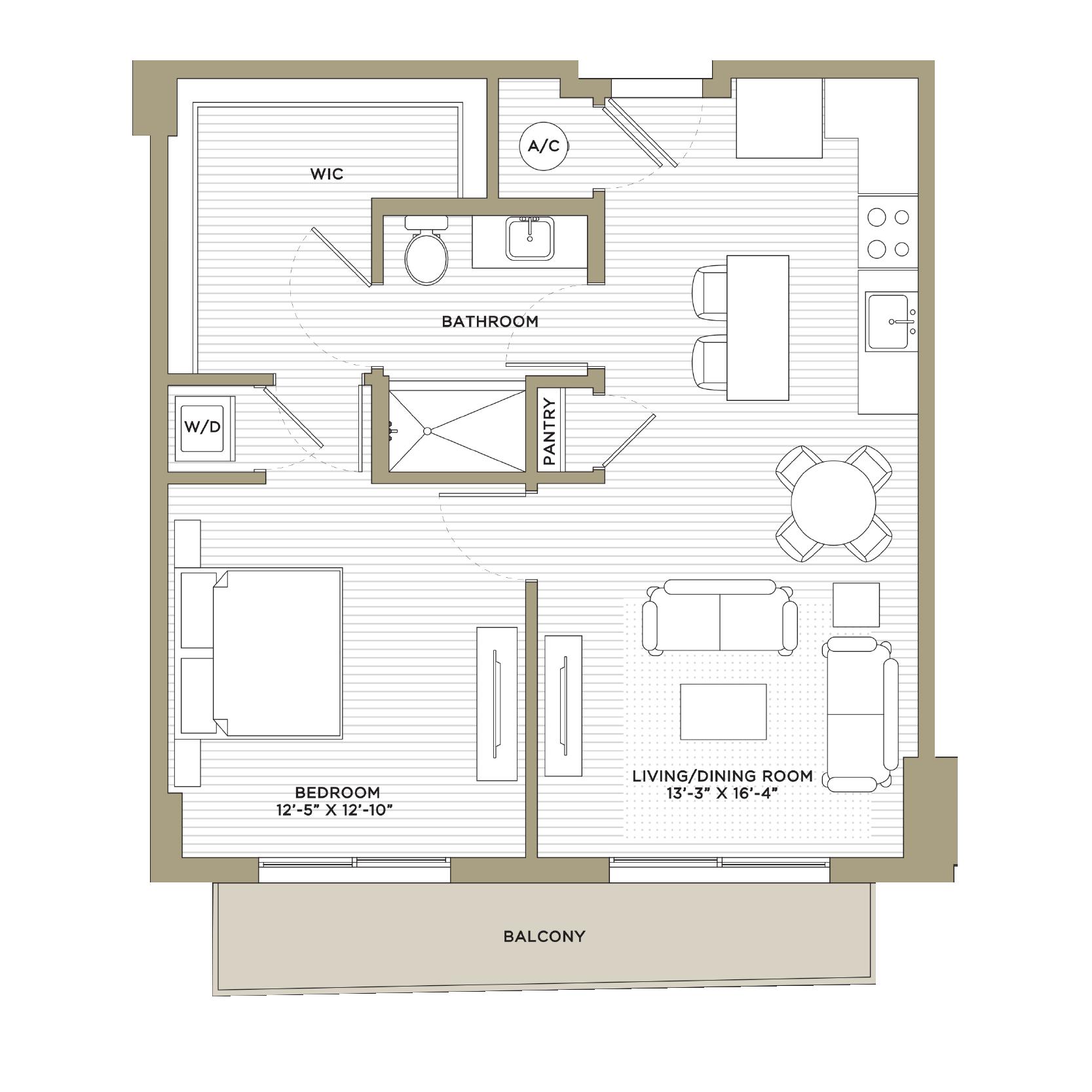 A1A / A11 - 1 Bedroom / 1 Bathroom762 / 775 sq. ft.