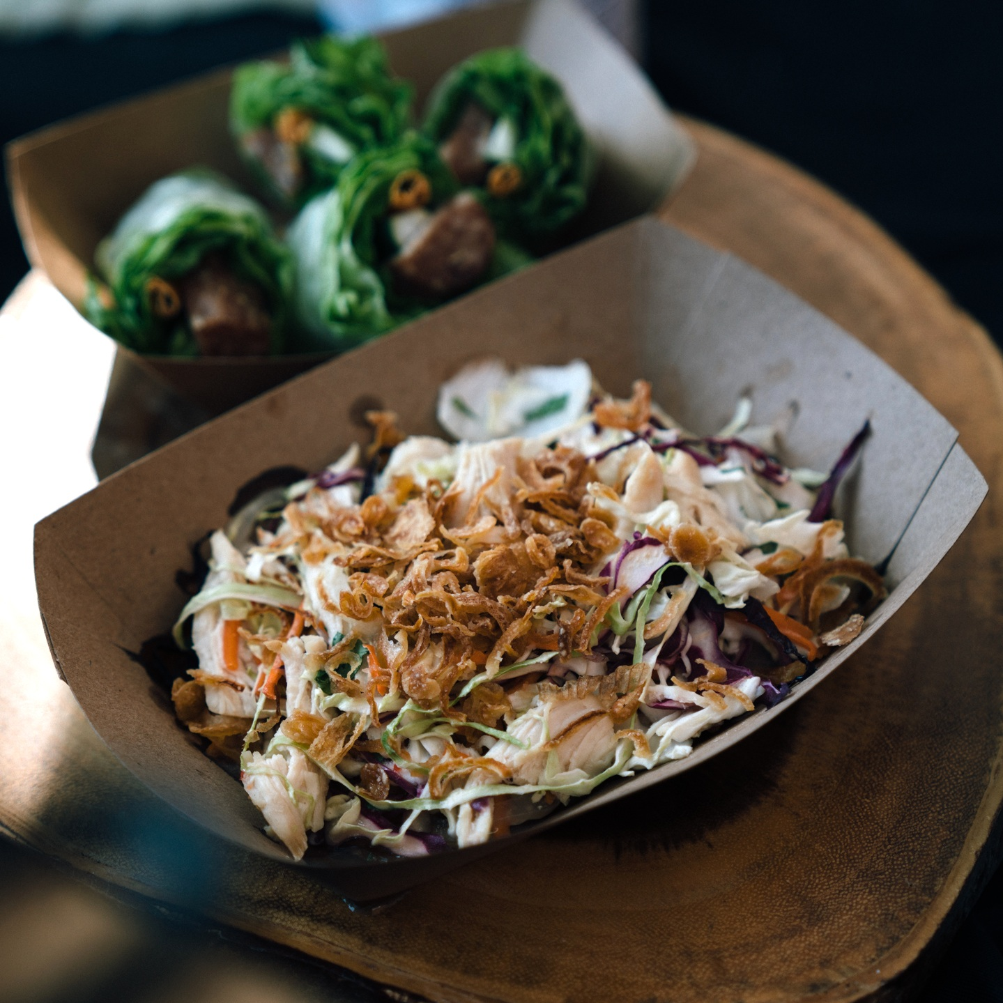 Pham to Table's GỎI GA (Chicken cabbage salad). Photo by Janice Chung for HFNM 2019.