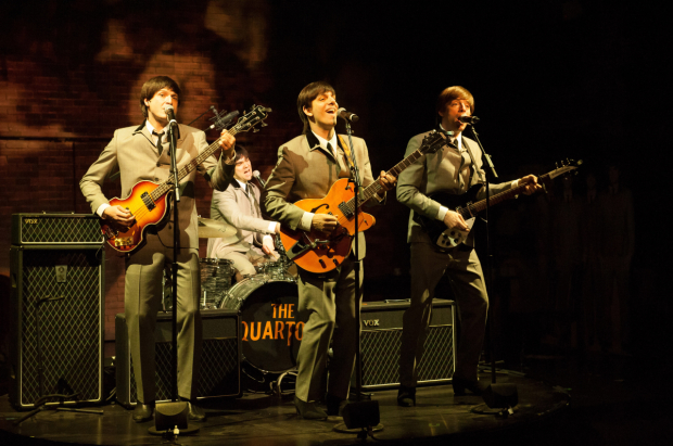 """These Paper Bullets (2014-2016) - Yale Rep / The Geffen / The AtlanticThe experience that forged the incendiary powerhouse that is New Neighborhood.A mod rip-off of Shakespeare's Much Ado About Nothing meets the Beatles in swinging London. Written by Rolin Jones, Music by Billie Joe Armstrong, Directed by Jackson Gay.I played Pedro (Don Pedro/""""Ringo""""/Drums). Check out the videos: Yale Rep Promo, Atlantic Promo, Follow You Around"""
