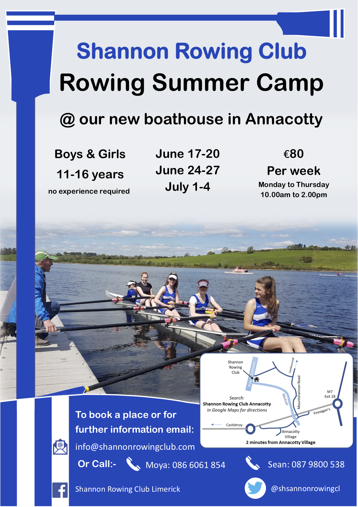 Shannon Rowing Club Summer Camp 2019