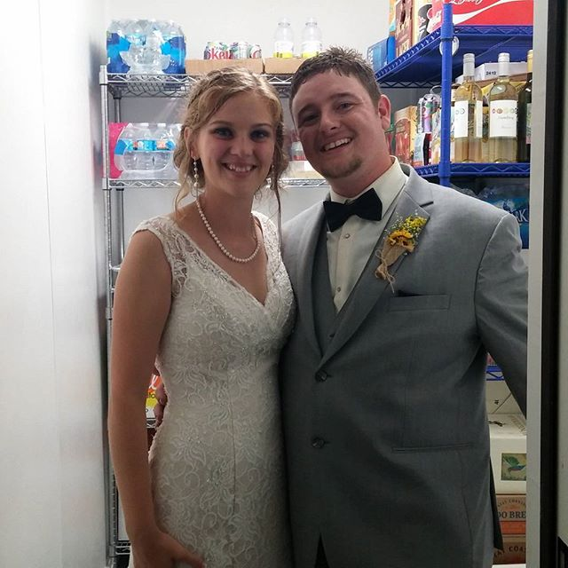 "So this happened last night:  Pierre to Me: ""Hey, your bride and groom are in the walk in cooler. You might want to check on them."" Me: Good Lord. What's wrong?"" Pierre: ""Too many people, sun and humidity. They needed a timeout."" Lesson learned, future clients. We don't put clients in timeouts, unless you want one. Congrats B&B."