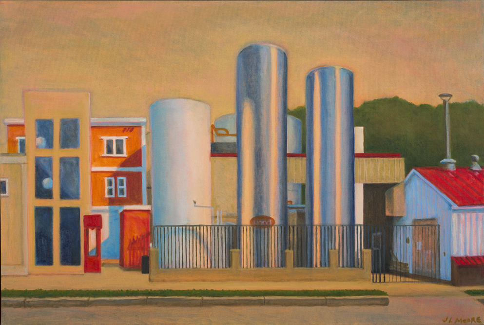 "Milk Factory, Portland   24"" x 36"" Oil on canvas"