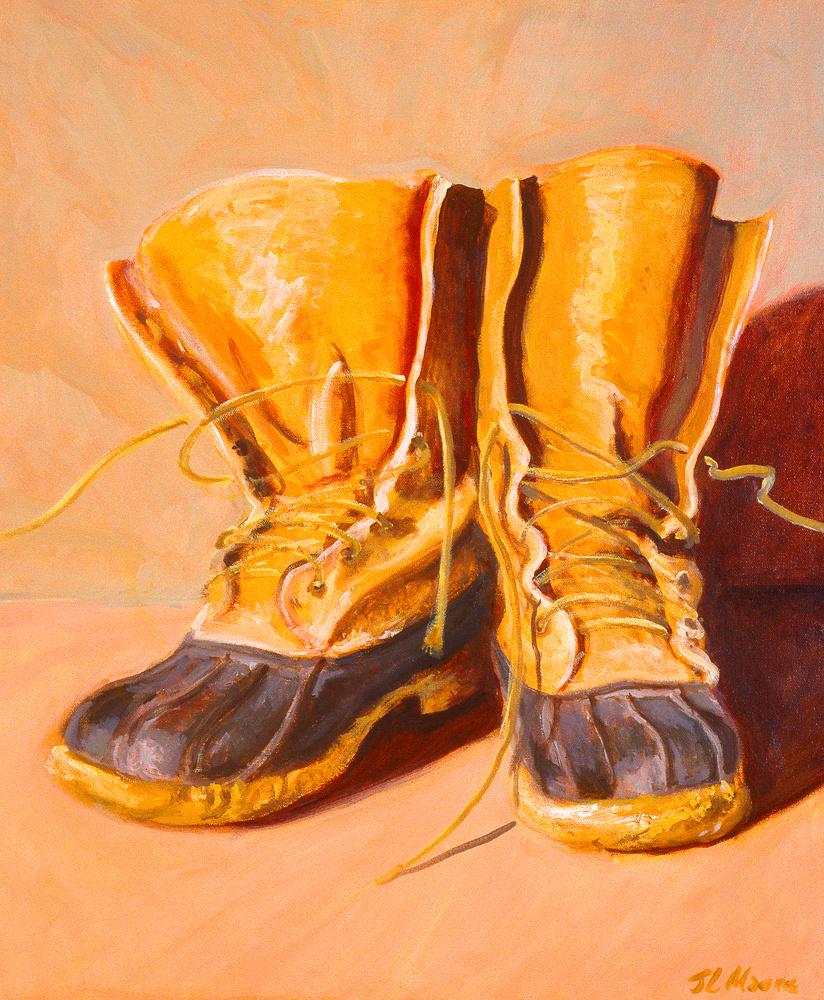 "Bean Boots   24"" x 20"" Oil on Canvas"
