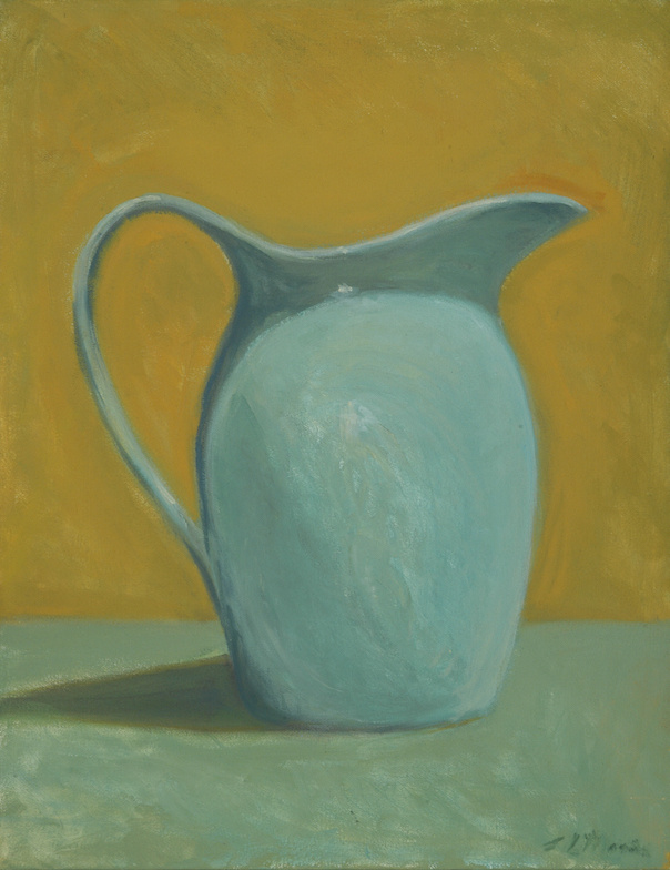 """Blue Pitcher   18"""" x 14"""" Oil on Canvas"""
