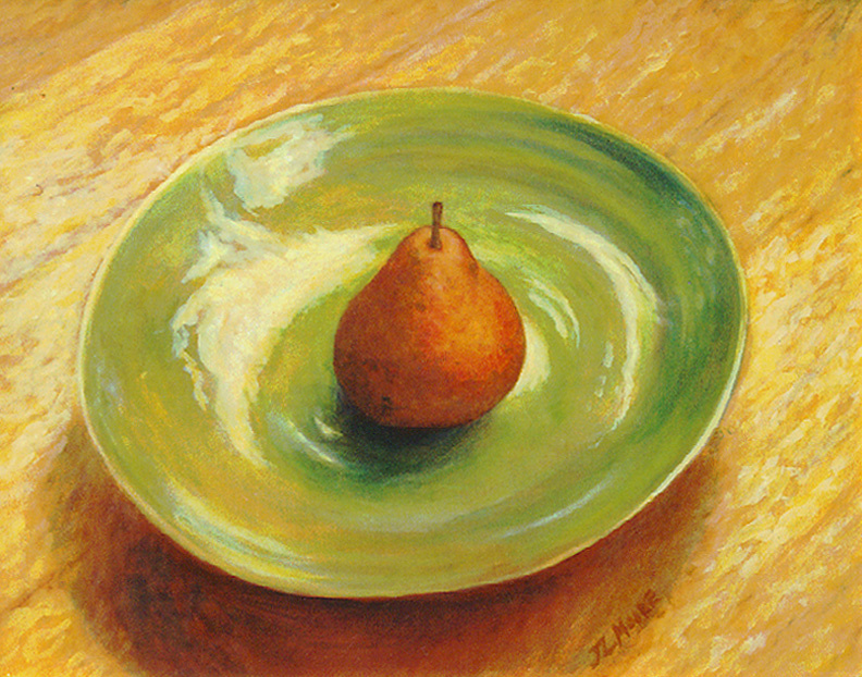 """Red Pear   16"""" x 20"""" Oil on Canvas"""