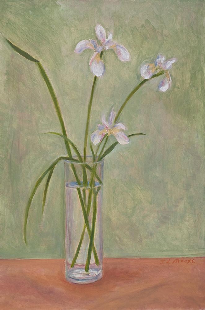 """White Irises   30"""" x 20"""" Oil on Canvas"""