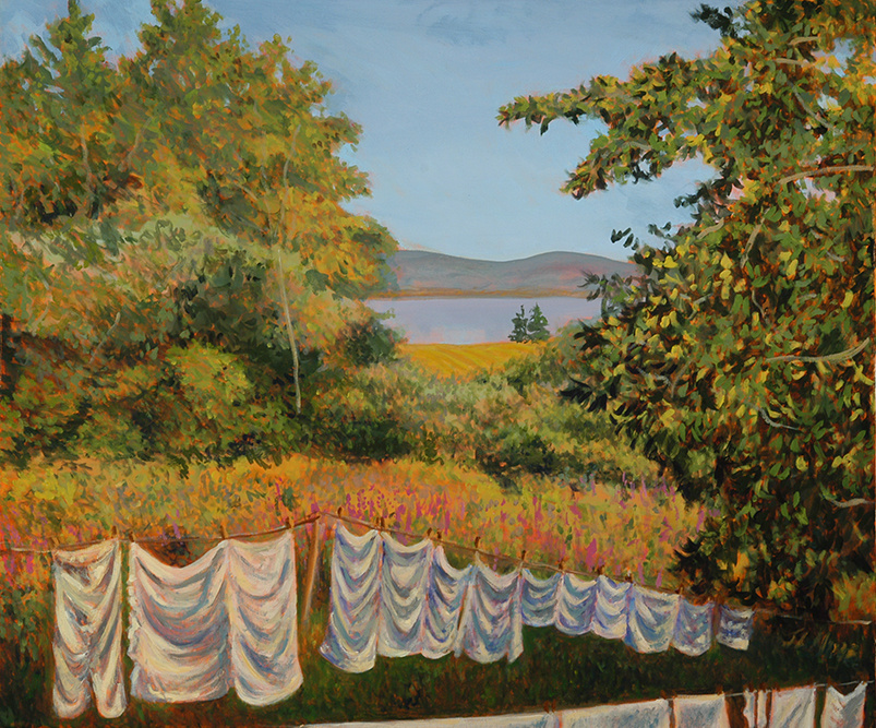 "Nana's Whites II   30"" x 36"" Oil on Canvas"