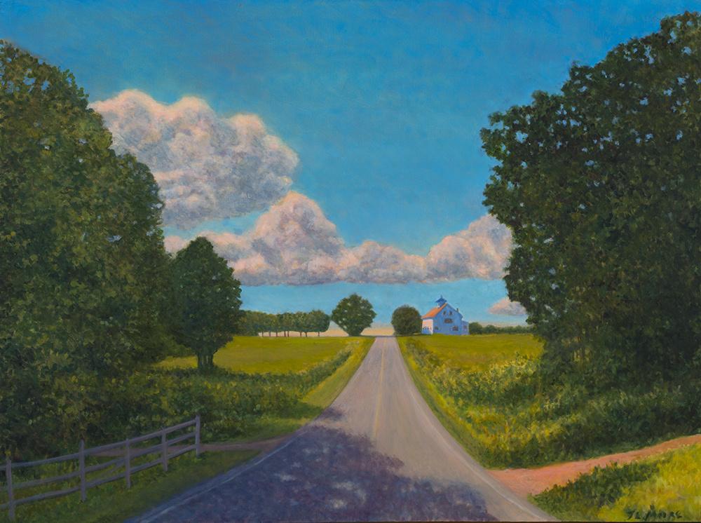 "Pleasant Hill Road, Brunswick   30"" x 40"" Oil on Canvas"