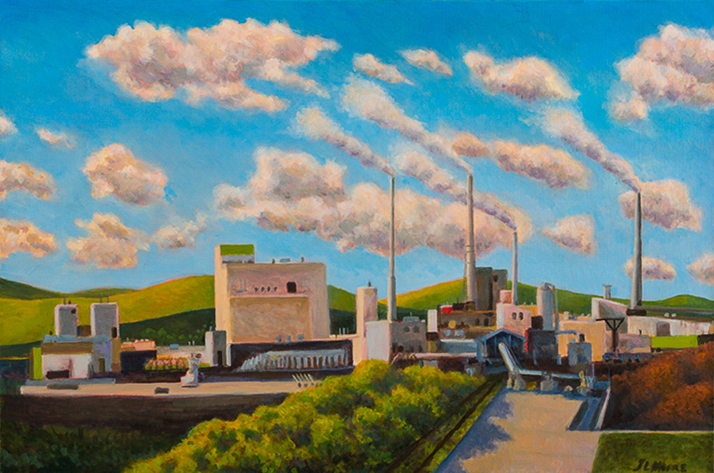 "Paper Factory   24"" x 36"" Oil on canvas"