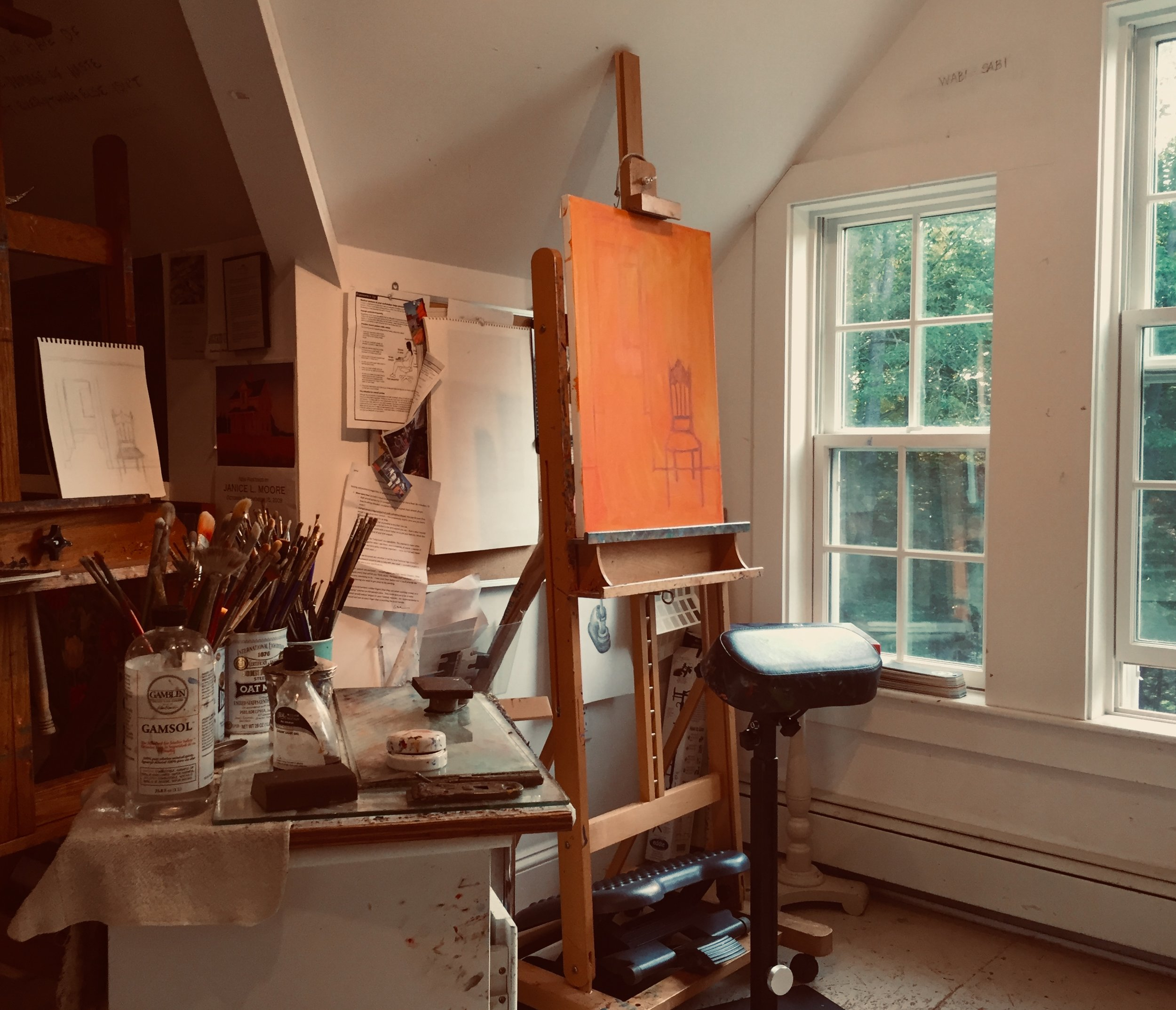 Janice's studio in Freeport, Maine