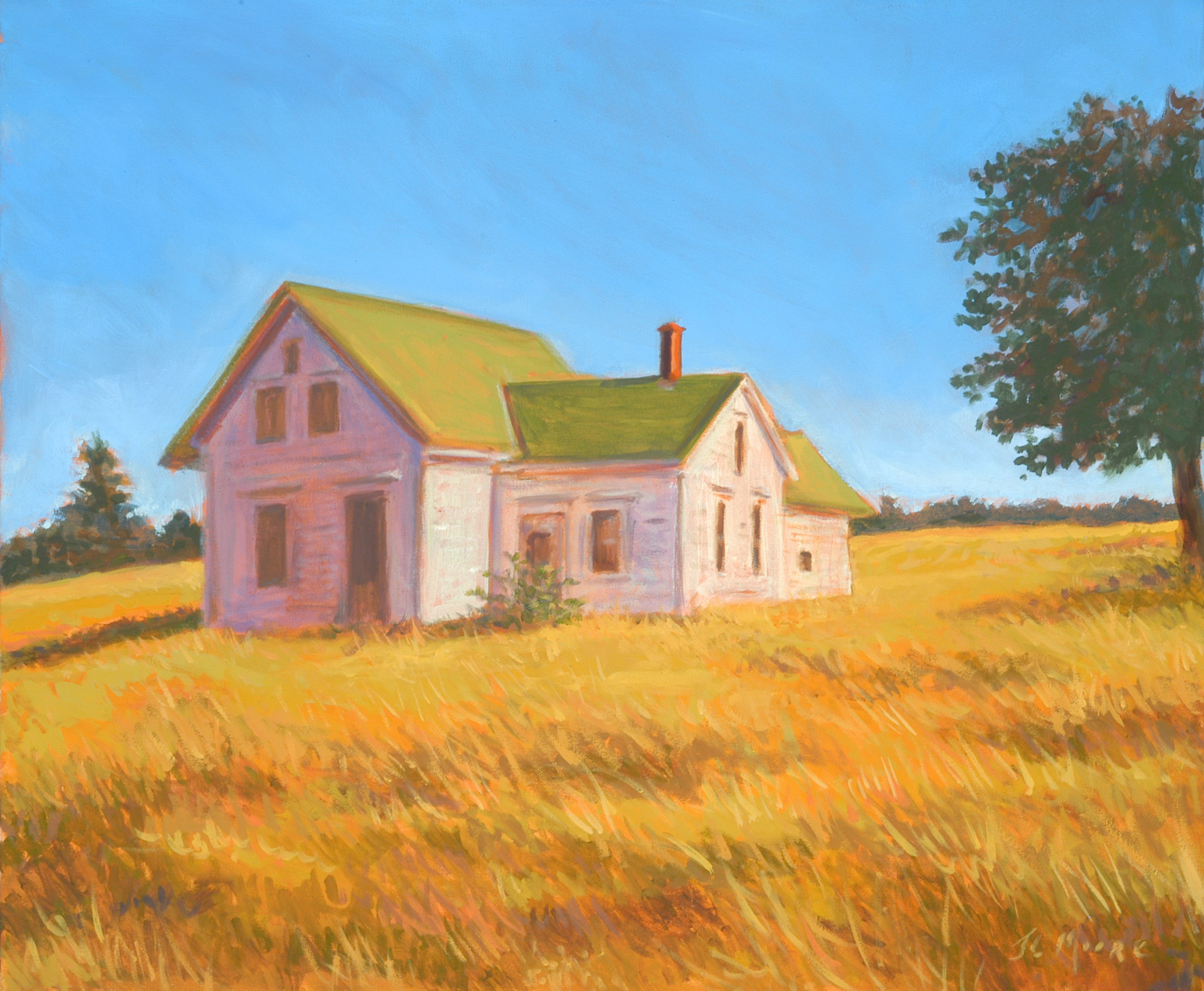 "Gilbert's Cove House, Nova Scotia   20"" x 24"" Oil on Canvas"