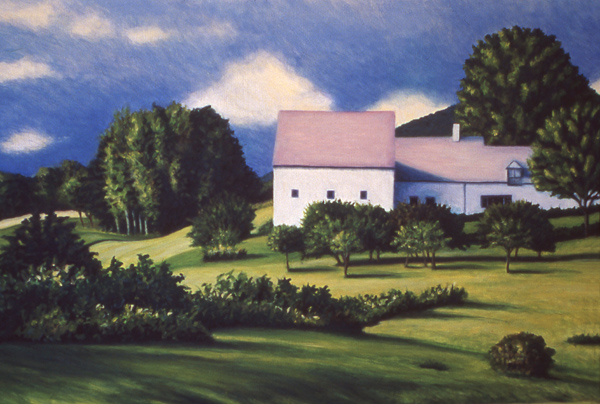 "Knox County Farm   24"" x 30"" Oil on Mahogany"