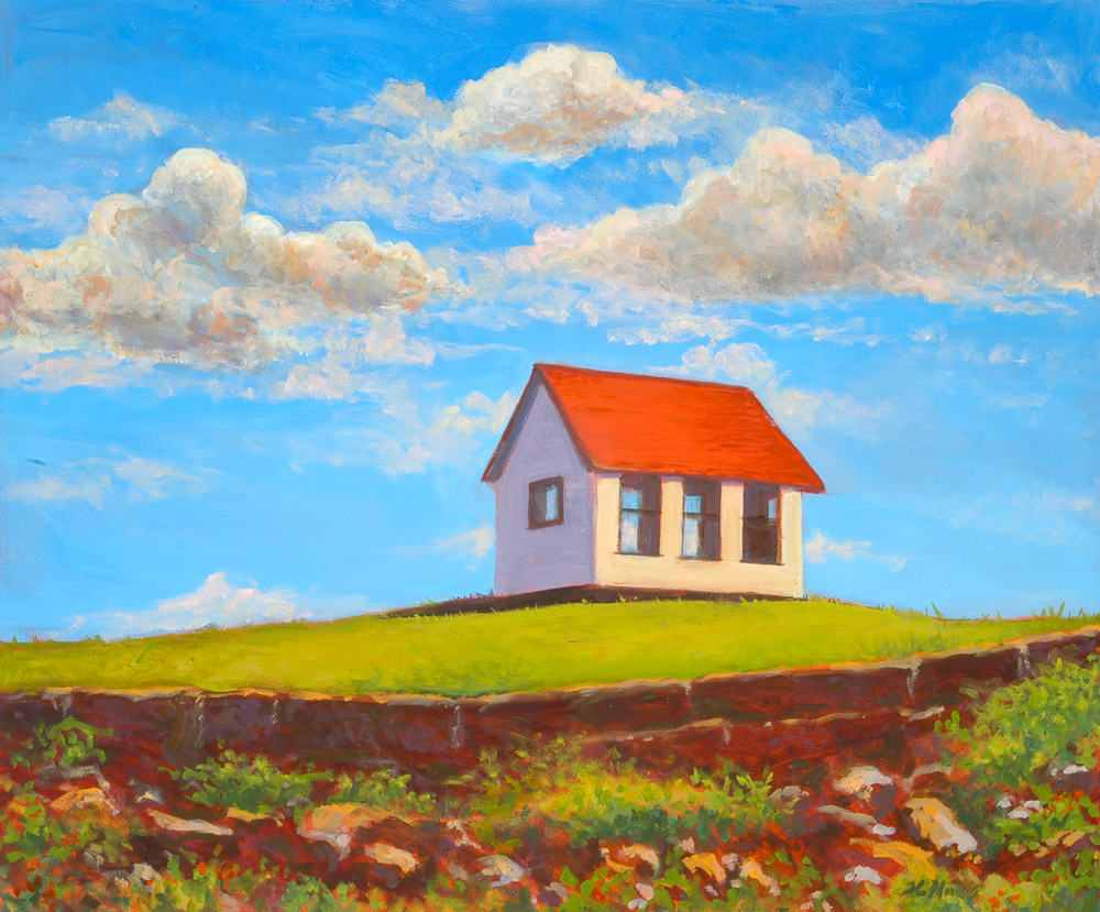 "Upper Dam Pump House   16"" x 20"" Oil on Canvas"