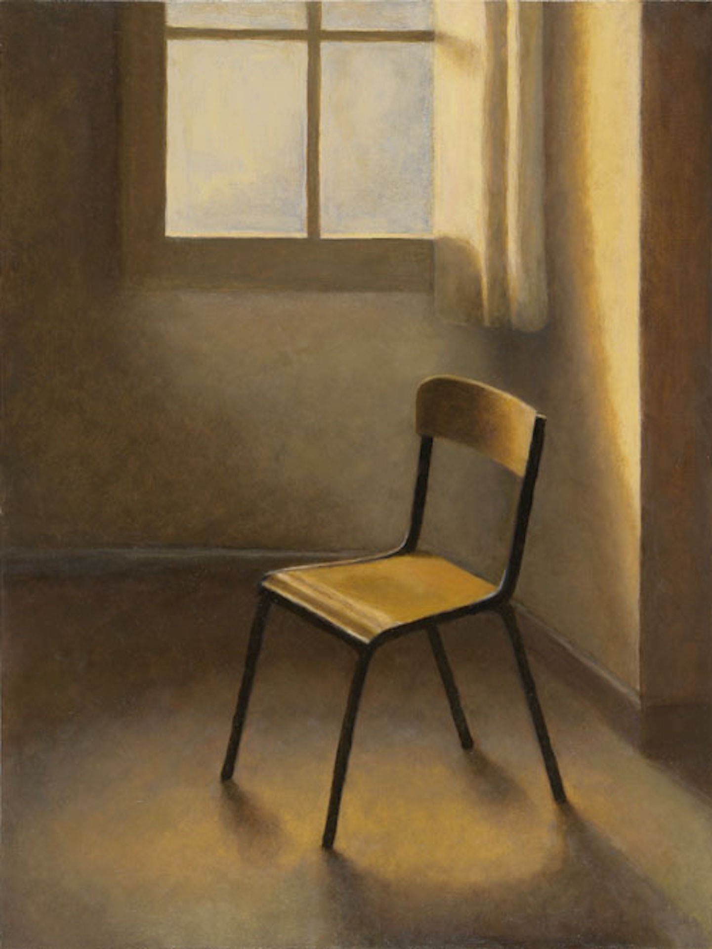 "French School Chair   16"" x 12"" Oil on Birch Panel"