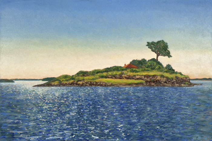 "Crab Island   24"" x 36"" Oil on Canvas"
