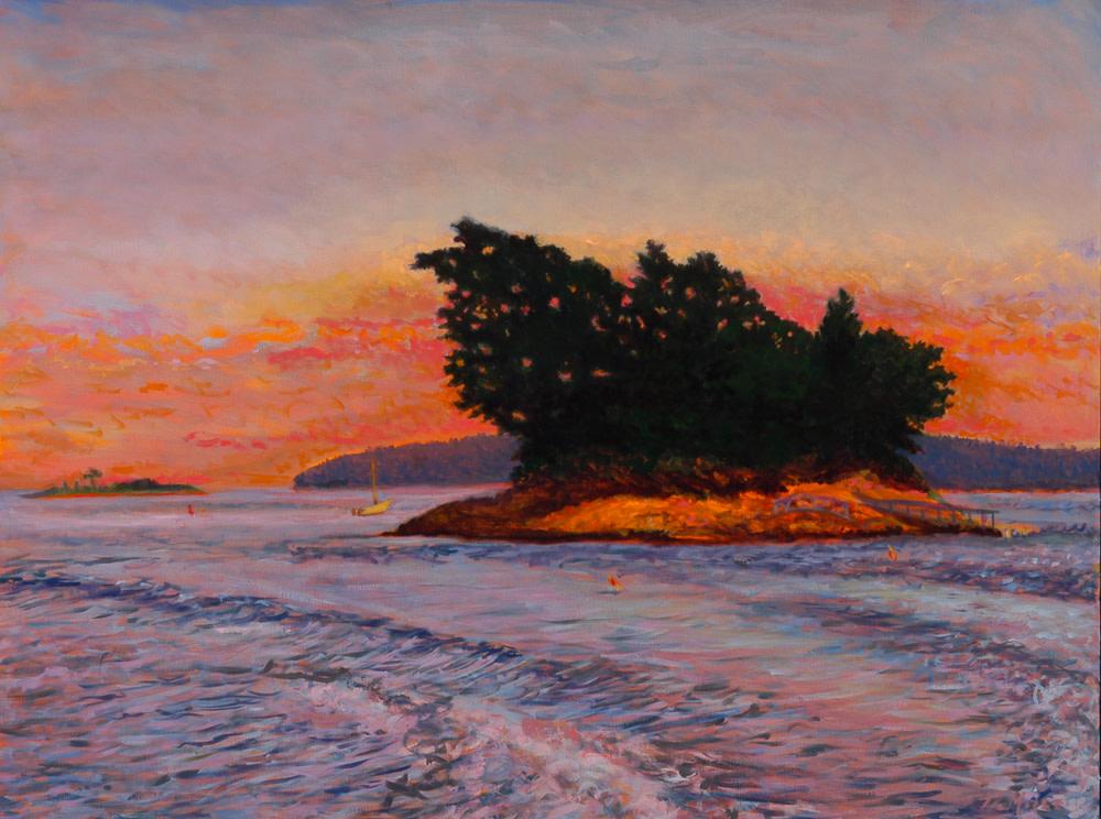 "Pound Of Tea Island  30"" x 40"" Oil on Canvas"