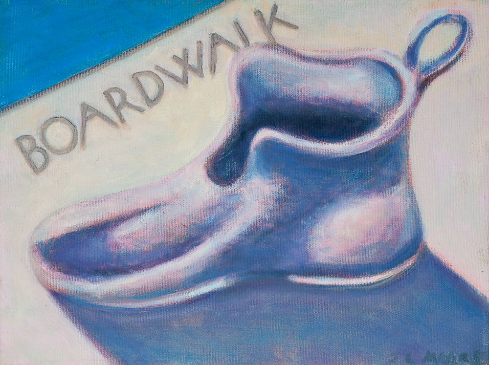 "Monopoly Shoe   9"" x 12"" Oil on Canvas"
