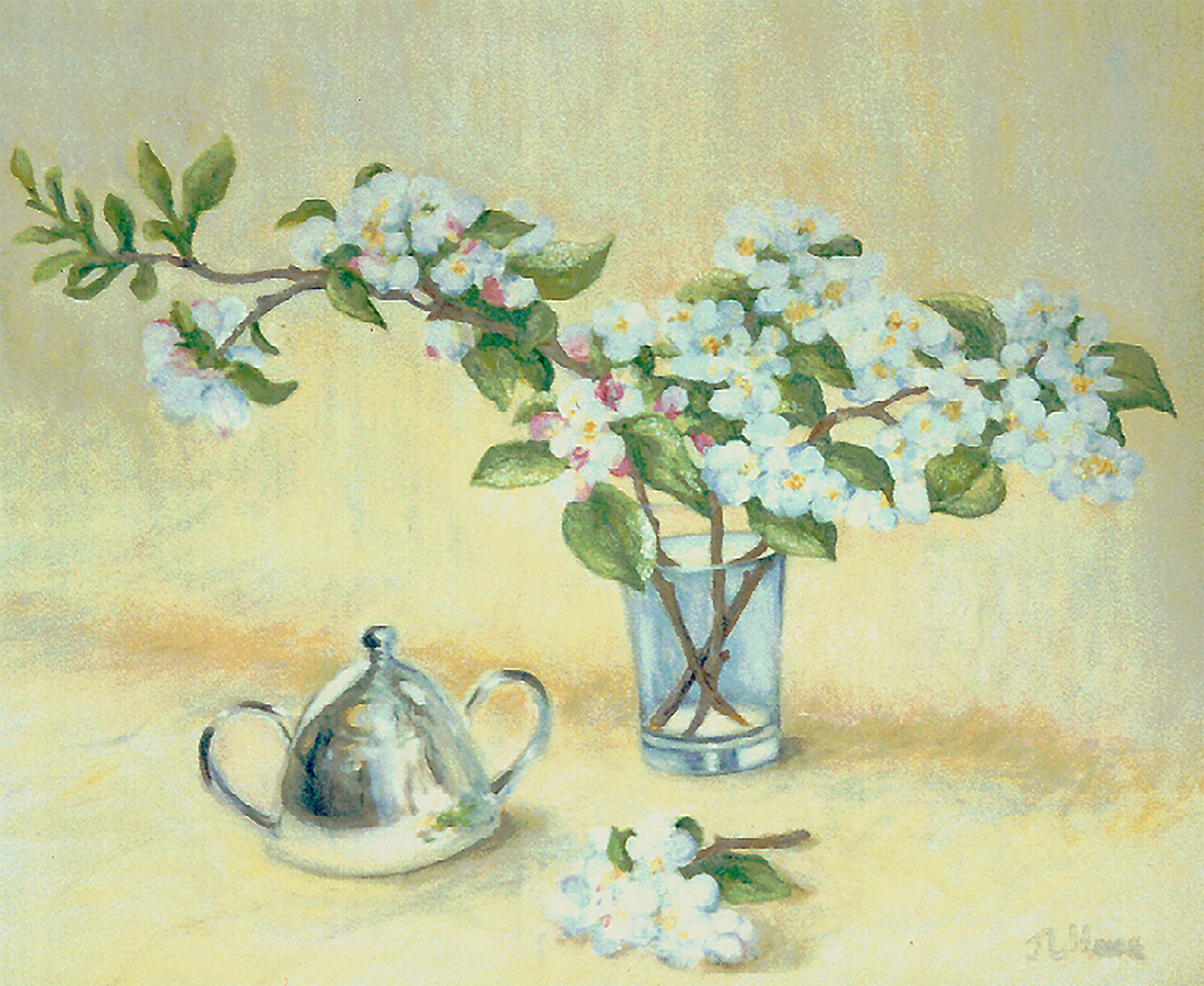 """Mrs. Smith's Apple Blossoms   20"""" x 24"""" Oil on Canvas"""