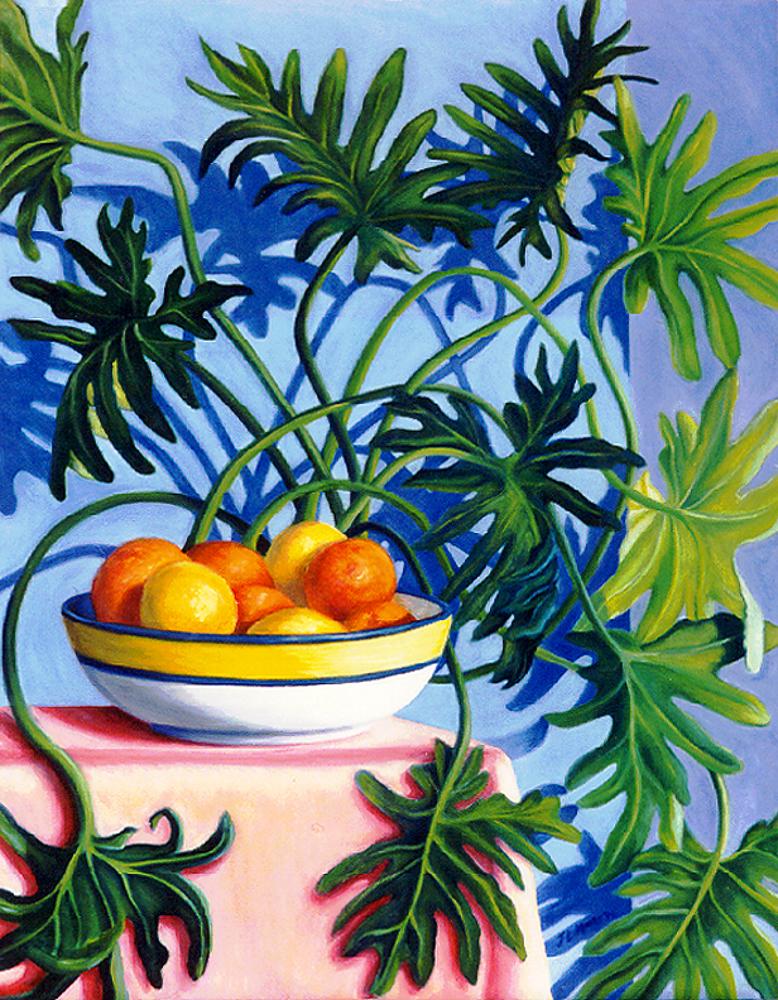 "Oranges & Lemons   32"" x 24"" Oil on Canvas"