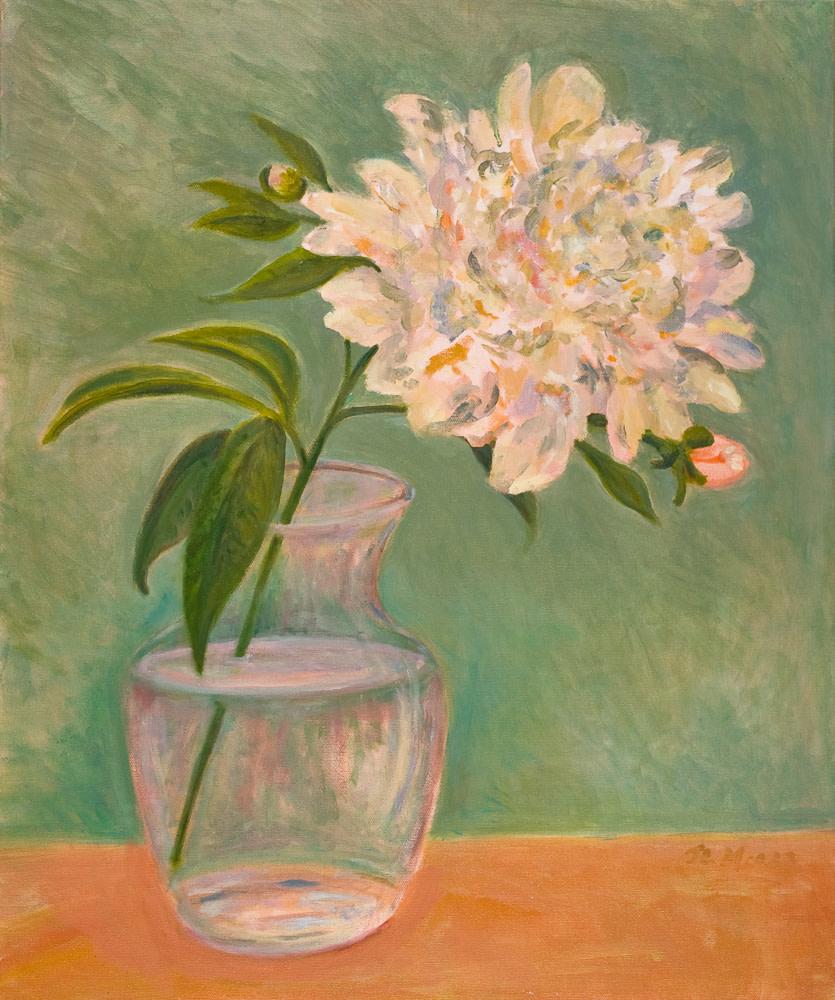 "White Peony   30"" x 24"" Oil on Canvas"