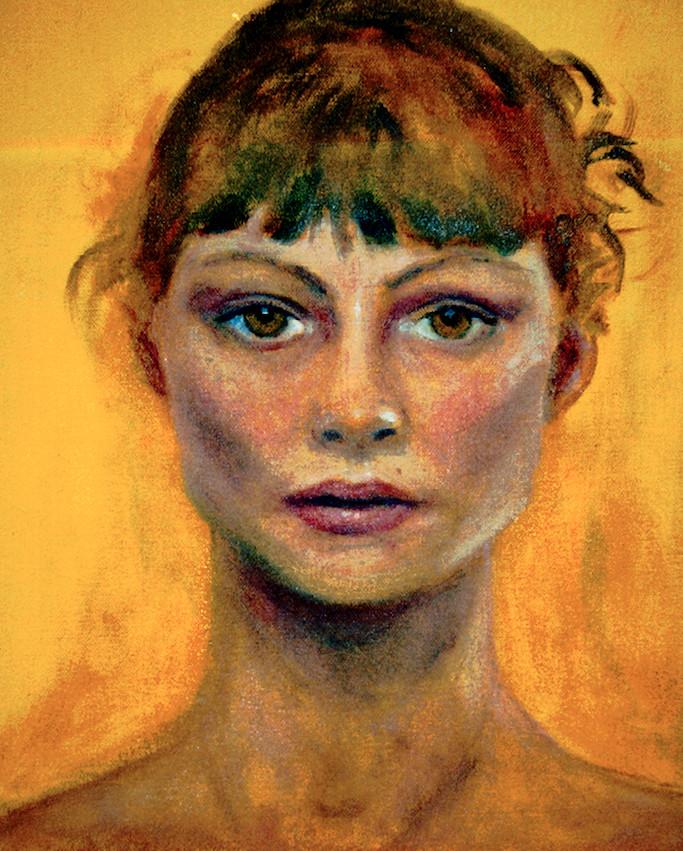 "Self Portrait   10"" x 8"" Oil on Canvas"