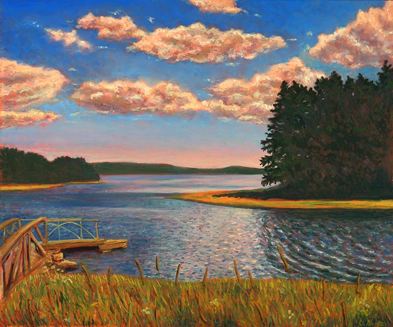 """Porter's Landing   30"""" x 36"""" Oil on Canvas"""