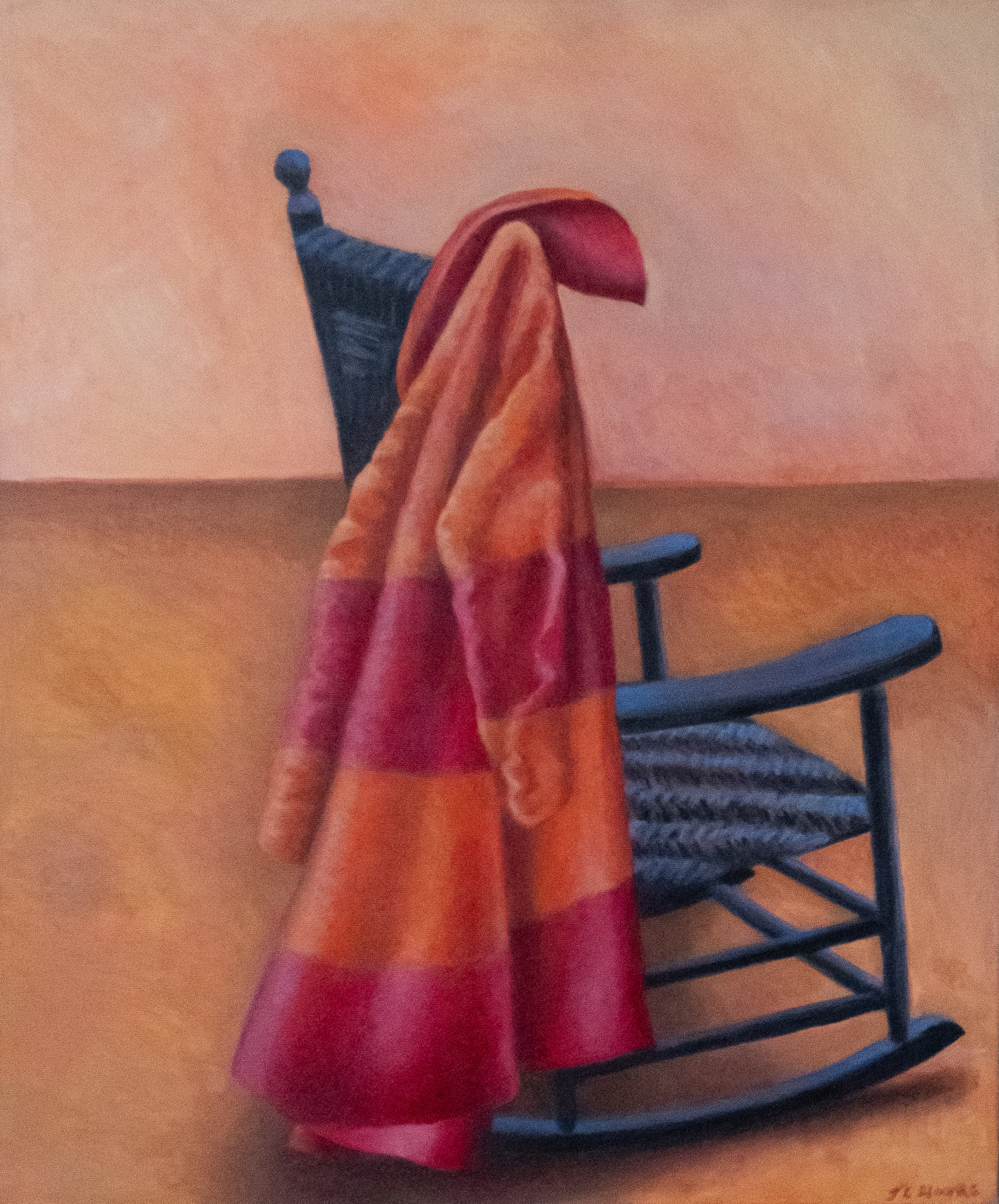 "Raincoat and Rocking Chair   24"" x 20"" Oil on Canvas"