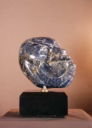 Anthony Quinn   Cleopatra , 1986 Blue marble 11 x 8 x 13 in.
