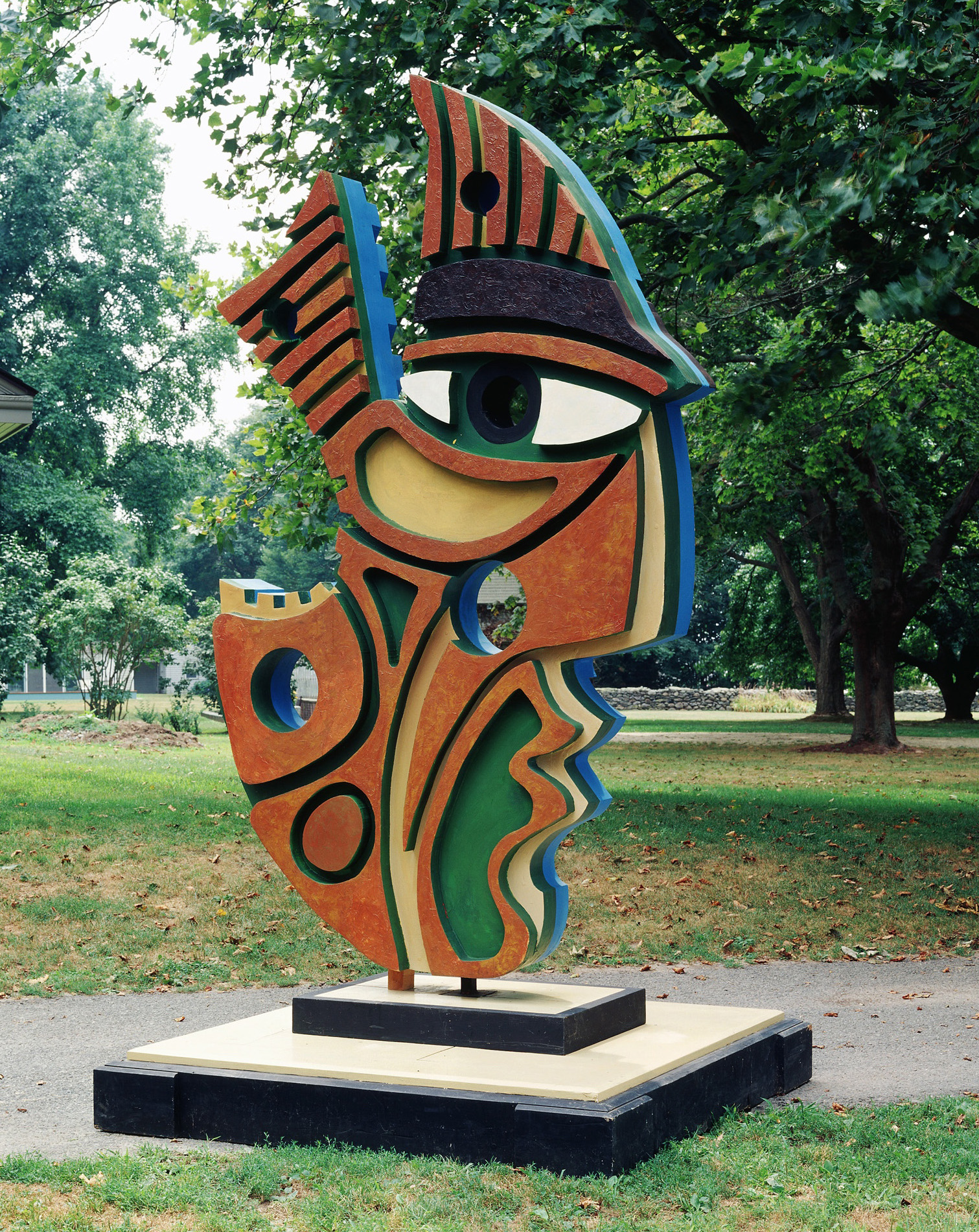 Anthony Quinn   Aztec Ancestor , 1992 Wood assemblage 112 x 62 1/2 x 12 in. 284.5 x 158.8 x 30.5 cm