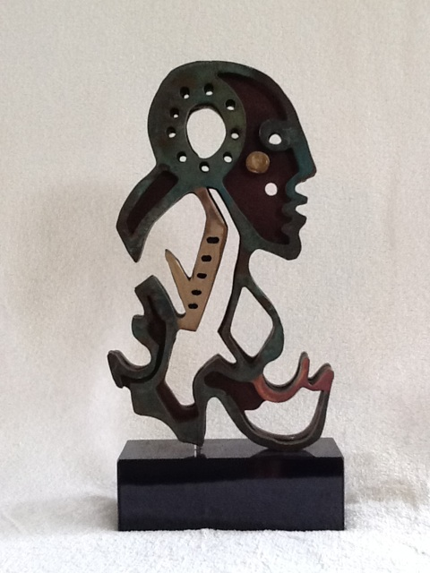 Anthony Quinn   True Lady , 1990 Steel and bronze with patina 9 1/2 x 4 1/2 in. 24.1 x 11.4 cm
